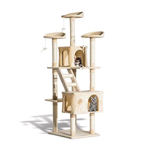 Rascador Gato Altura 180x60x50cm Arbol Poste Gato Arañar Centro Activ