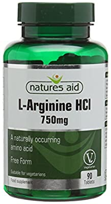 Natures Aid 750mg L-Arginine Tablets - Pack of 90