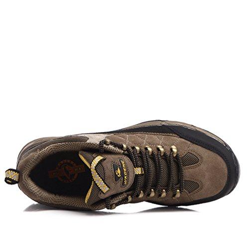 Chaussures de Randonnée Derbies En Peluche Extérieur Course Cross-Country Chaussures d'Hiver Chaud Jaune