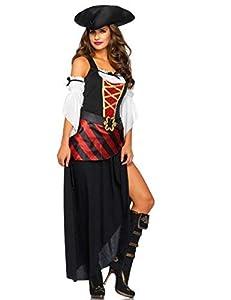 WONDERLAND-W5018603011 Mujer, color negro, rojo, Large (EUR 42-44) (Leg Avenue Inc. W5018603011)