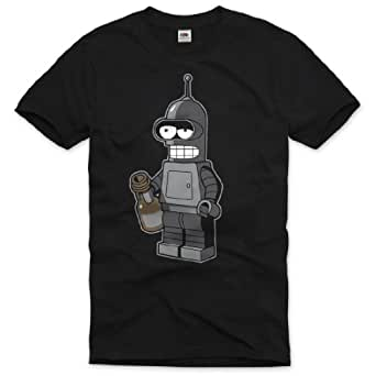 style3 Bender Bendingbot T-Shirt Homme, Taille:S;Couleur:Schwarz