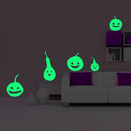 ko leuchtaufkleber wandsticker fluoreszierend und im Dunkeln leuchtend für Kinderzimmer und Babyzimmer Schlafzimmer, Wände & Decken (Im Dunkeln Leuchten Die Kürbisse)