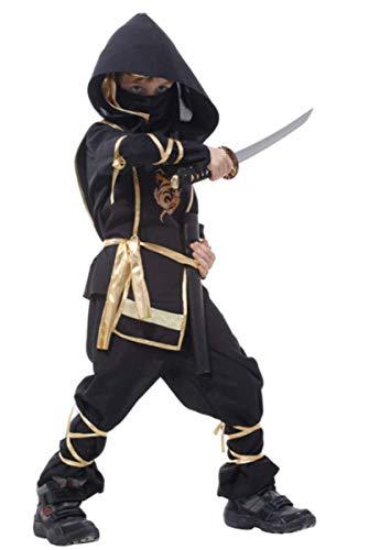 EMIN Fasching Kinder Ninja Ritterkostüm Japanischer Samurai