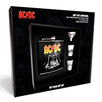GB Eye Ltd AC/DC Hells Bells Hip Flask Set, Black
