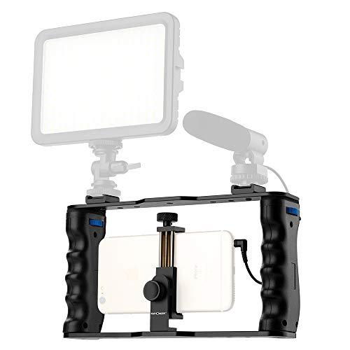 K&F Concept Videokäfig Smartphone Rig Smallrig Fotografie Filmherstellung Handy Video Stabilisator Halter für Smartphone Stativ