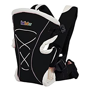 Bebamour Brand Baby Carrier 3 in 1 Front and Back Carrier for Baby Functional Baby Carrier Backpack (Black)   2