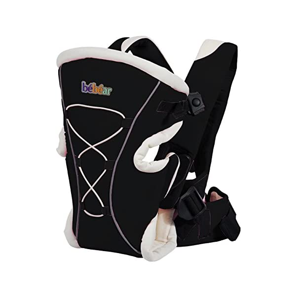 "Bebamour Brand Baby Carrier 3 in 1 Front and Back Carrier for Baby Functional Baby Carrier Backpack (Black) bebear Soft mesh and cotton make baby comfortable in all position; The baby carrier has all-around head support so that baby 's head can be protected well. Max.Capacity: 3.5-12KG; Baby Age: from 3-24month; With English user manual; Easy to carry according to the manual. Size: L12.60""*H8.6""*W4.0""(L32*H22*W10cm); The carrier's waist band can be lengthen to 45.27""(115cm) which is suit for each man and woman. 1"