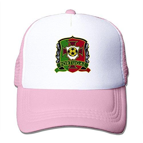 xj-cool-portugal-euro-2016-logo-casquette-de-course-leger-en-maille-flexfit-casquette-rose-taille-un