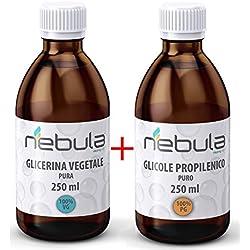 KIT BASE NEUTRA 500 ML - GLICOLE PROPILENICO + GLICERINA VEGETALE 50VG/50PG