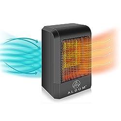Wohnbereich zwei Leistungsstufen energiesparender Betrieb f/ür Badezimmer 900W Mini Keramik Heizl/üfter mit automatischer Oszillation B/üro Gold