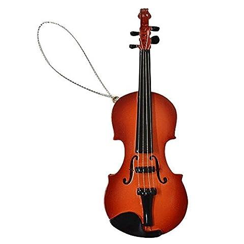 Giftgarden Geige Miniatur Anhänger Weihnachtsdeko Weihnachtsanhänger braun