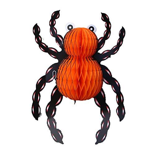 l Dekoration Set Halloween Bar Party Dekoration 3D Spinne Anhänger Black Spider 1 Pack für Halloweendeko Make-up-Party Halloween Dekoration ()