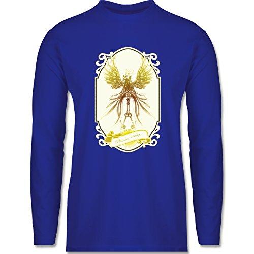 Vintage - Phoenix rising - Longsleeve / langärmeliges T-Shirt für Herren Royalblau