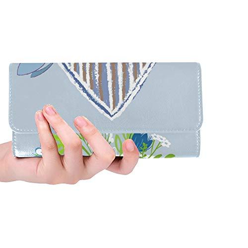 einlese-Karten-Vogel-Vogelhaus-Blumen-Frauen-dreifachgefaltete Mappen-Lange Geldbeutel-Kreditkarte-Halter-Fall-Handtasche ()