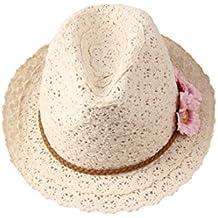 Dantiya mujer sombrera de paja con flores para vacación para cubrir el sol 2016
