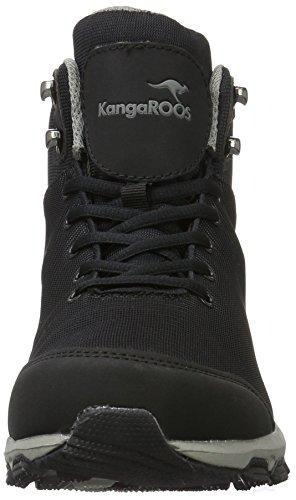KangaROOS Ku I Hi S, Sneakers basses mixte adulte Schwarz (Black/Dk Grey)