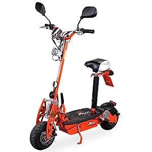 E-Scooter Roller Original E-Flux 20 mit Straßenzulassung und 500 Watt 36 V Motor Elektroroller E-Roller E-Scooter in vielen Farben (orange)