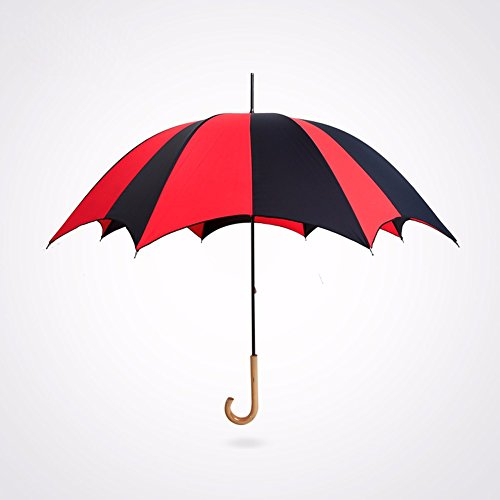 ssby-vintage-colour-matching-ruffled-umbrella-lady-wooden-handle-and-long-handle-arched-clear-umbrel