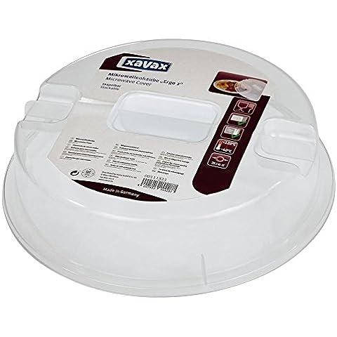 Xavax Ergo 2 Coperchio per Microonde, Plastica, Trasparente, Diametro 26 cm x Altezza 11 cm