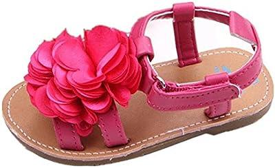 Tefamore Zapatos sandalias bebé recién nacidos lindos de la flor del Peonía Niño pequeño