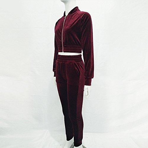 F.Lashes - Survêtement - Femme rouge bordeaux