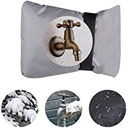 Mamum Wasserhahn-Abdeckung, für den Winter, 2 Stück, für Wasserhähne und Outdoor-Wasserhähne, Frostschutz Einheitsgröße grau