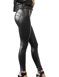 Saoye Fashion Pantalon Cuero Mujer Vintage Leggins Cuero Skinny Delgado  Niñas Ropa Pants Sintético Cuero Treggins Slim Fit Cintura Alta Pantalon… 18bd4daf8f6c