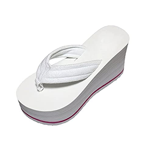 Lalang Women Wedge Flip Flop High Heel Thong Slippers Beach Slipper