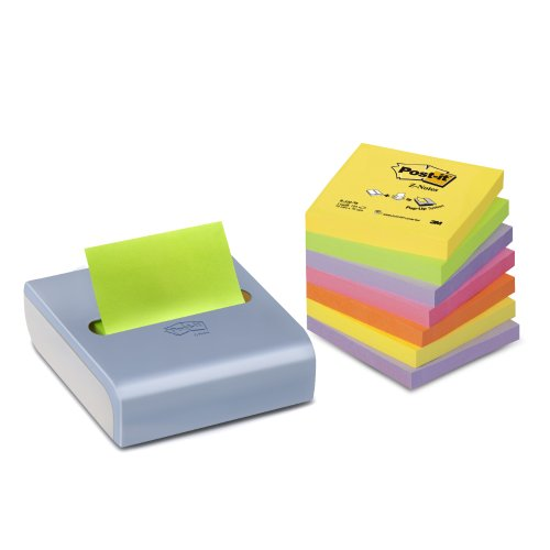 Post-it CRV-8P Z-Notes Spender Promotion (8 Blöcke à 100 Blatt, 76 x 76 mm, inkl. 1 Post-it Z-Notes Spender gratis) Neonfarben