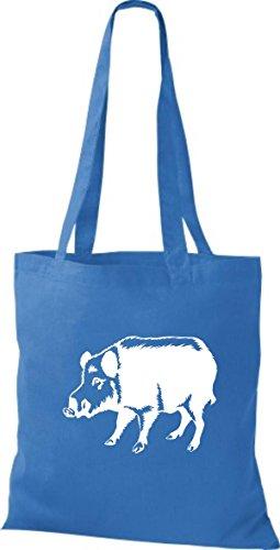 Shirtstown Stoffbeutel Tiere Schwein Eber Sau Ferkel Royal