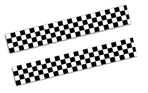 2 Stück Vinyl Aufkleber Autoaufkleber Zielflagge Schwarz Weiß Motorcycle Racing Rallye Stickers Auto Moto Motorrad Fahrrad Helm Fenster Tür Tuning B 122
