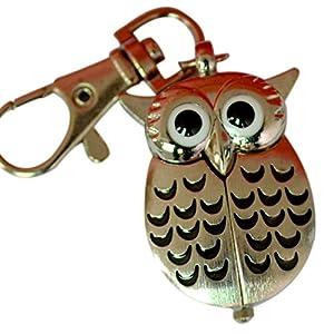 BonTime Eine Taschenuhrzeit Bronze Owl Taschenuhr mit Kette