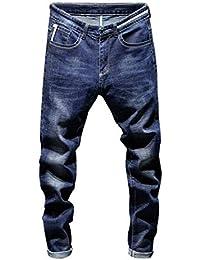 edb3b71a7123 Celucke Slim Fit Jeans Herren Vintage Basic Jeanshosen, Männer Skinny Denim  Hosen Röhrenjeans