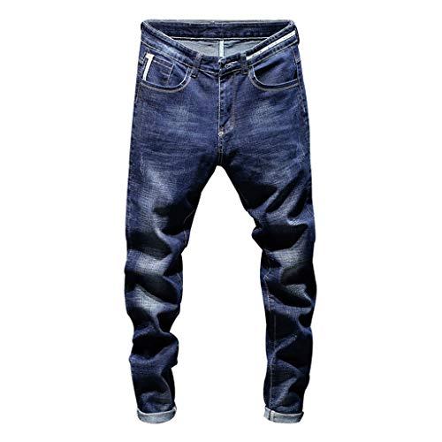 Jeans Skinny Uomo Rcool Jeans da Uomo Stretti alla Caviglia Elasticizzati Casuale Denim Pantaloni Slim Fit Marina Militare S 3XL