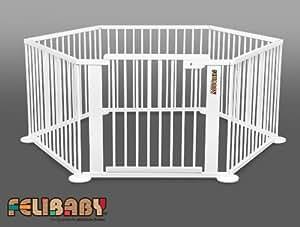 one4all 1 5 blanc barri re de s curit modulable parc b b parc volutif b b s. Black Bedroom Furniture Sets. Home Design Ideas