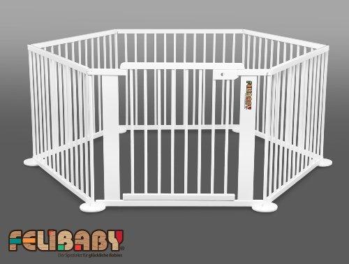 Nuovo: ONE4all 1+5 BIANCO Cancelletto di sicurezza flessibile, box per bambini