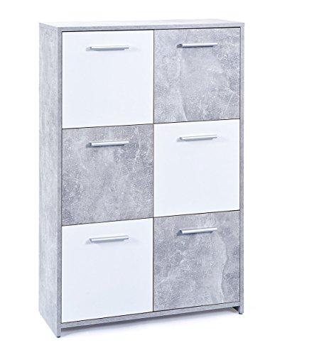 commode-moderne-77-cm-avec-6-tiroirs-coloris-blanc-et-gris-beton