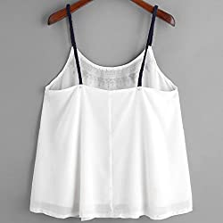 Women's Vest Tops, Wawer Women Sleeveless Tank Embroidered Chiffon Cami Top Blouse Great For Club/Party/Daily/Beach by Wawer