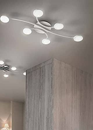 Fabas 3253 Mill Plafonnier LED 48W L 100 cm Blanc