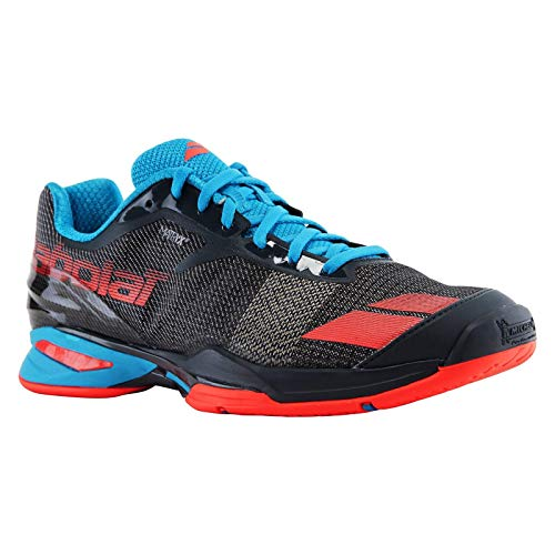 Babolat Junior Jet all Court Scarpe da Tennis, Grey/Blue/Red