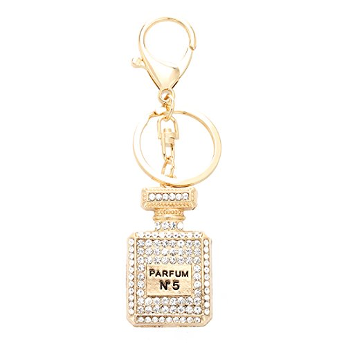 TOOGOO (R) Rhinestone-Kristallschluesselring-Charme-haengende Geldbeutel-Beutel-Schluesselring-Kette Keychain Parfuem-Flasche 1 #