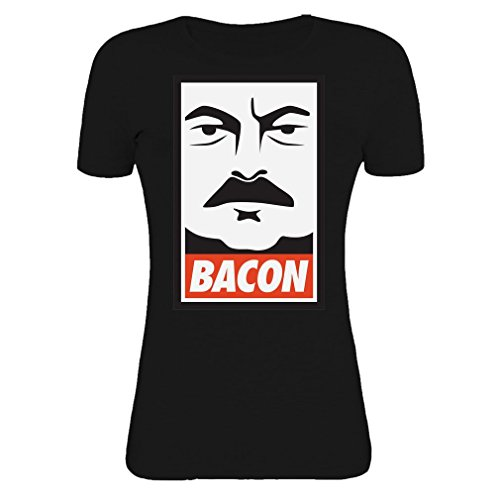 ron-swanson-parks-and-recreation-bacon-womens-t-shirt-small