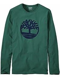 Timberland Men's Long Sleeve Tree Logo Organic Cotton T-Shirt