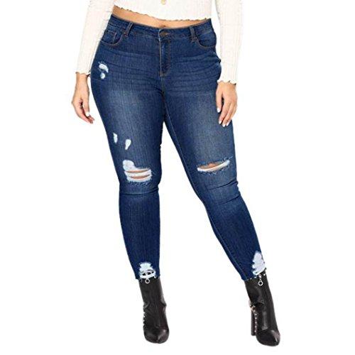 Vaqueros Jeans push up, Vaqueros Para Mujer cintura alta tallas grandes pantalones rotos leggins...