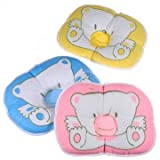 Infant Baby Bear Cotton Pillow Prevent Flachkopf-Kissen-Auflage
