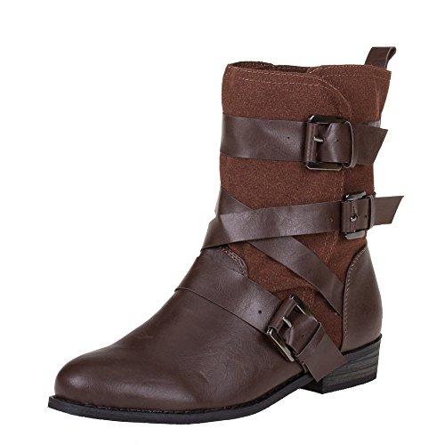 Damen Schuhe, 99717, STIEFELETTEN Braun