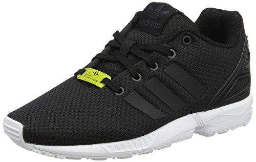 adidas ZX Flux, Baskets Basses Mixte Enfant, Noir (Core Black/Core Black/Footwear White), 32 EU