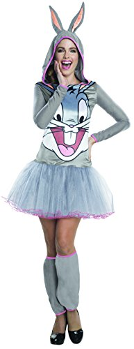 Bugs Bunny Kostüm für Damen - Hoodie Dress - ()