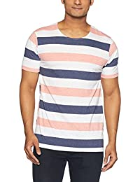 VOI Jeans Men's Striped Regular Fit T-Shirt