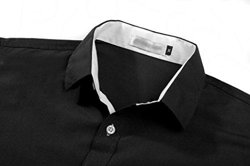 Kuson -  Camicia Casual  - Basic - Classico  - Maniche lunghe  - Uomo Nero